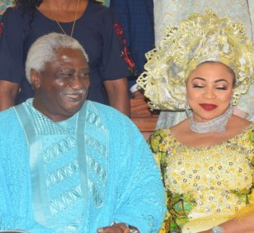 Mrs. Folorunsho Alakija and Husband