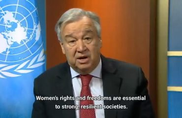 CORONAVIRUS CAUSES INCREASED GLOBAL HUSBAND–WIFE DISAGREEMENTS; UN CHIEF CALLS FOR AN END TO DOMESTIC VIOLENCE AGAINST WOMEN